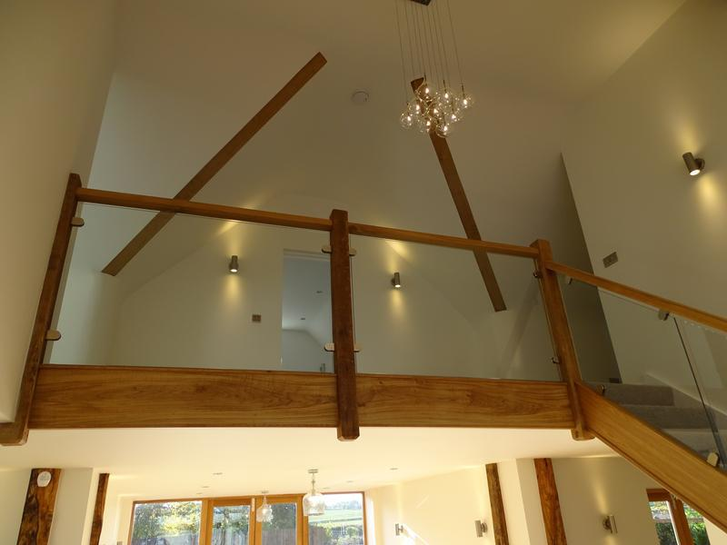 Image 75 - galleried custom hand build glass and oak staircase in the barn