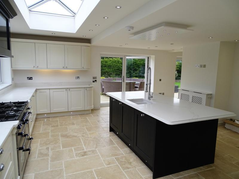 Image 26 - stunning open plan kitchen in Broadway, natural stone floor throughout, custom made roof latern and solid granite worktops