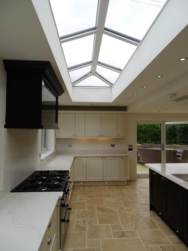 Image 30 - picture of the hand built glass roof lantern in the kitchen
