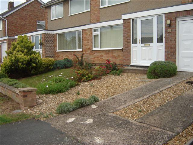 Image 13 - Old concrete driveway and front lawn