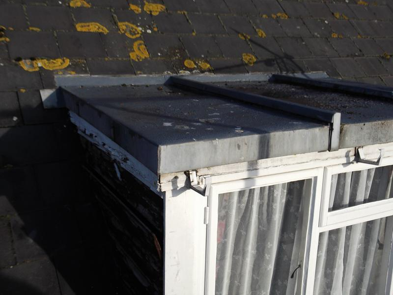 Image 4 - Existing zinc roof covering and timber clad cheeks to be replaced