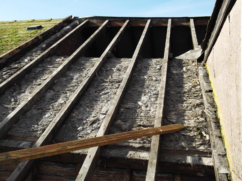 Image 12 - Re-roofing project, old slates stripped