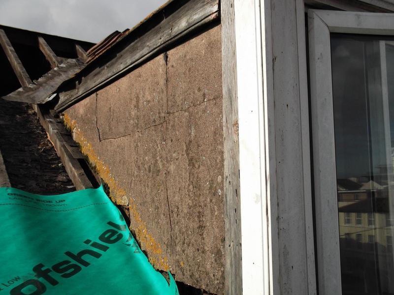 Image 13 - Shows existing damaged render on dormer wall
