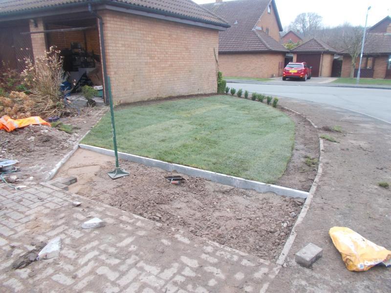 Image 40 - front garden during work