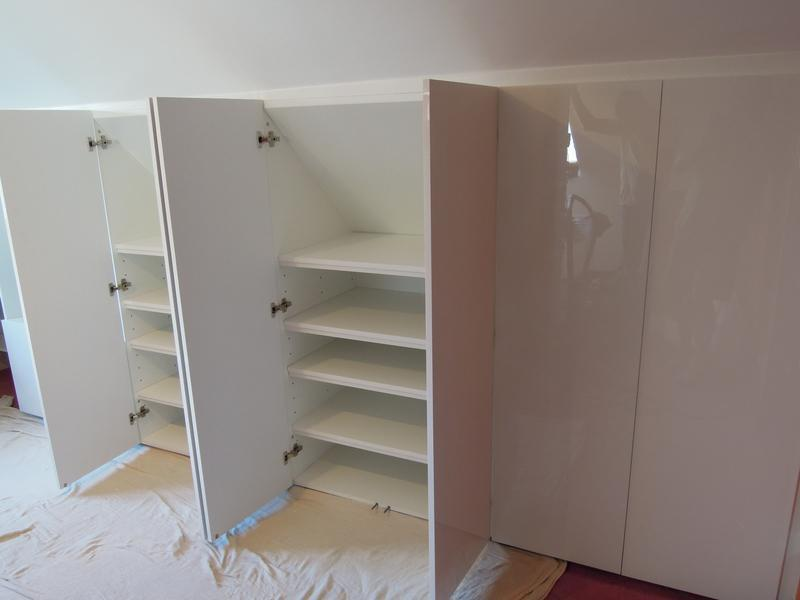 Image 9 - Bespoke White High Gloss Attic Storage