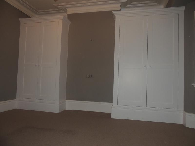 Image 27 - Alcove wardrobes, skirting has been machined to match the existing.
