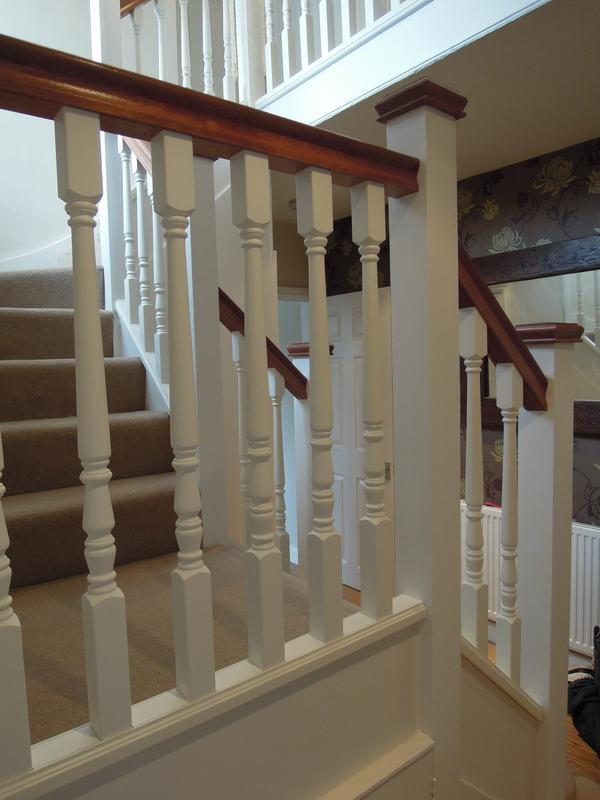 Image 14 - new handrail, spindles etc
