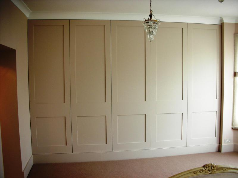 Image 9 - Wall to wall fitted wardrobe with shaker style doors