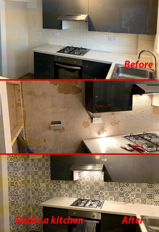 Image 1 - Tile kitchen walls