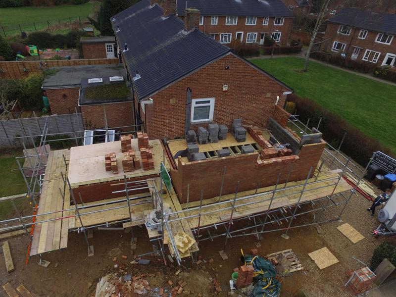 Image 70 - During the two storey side extension