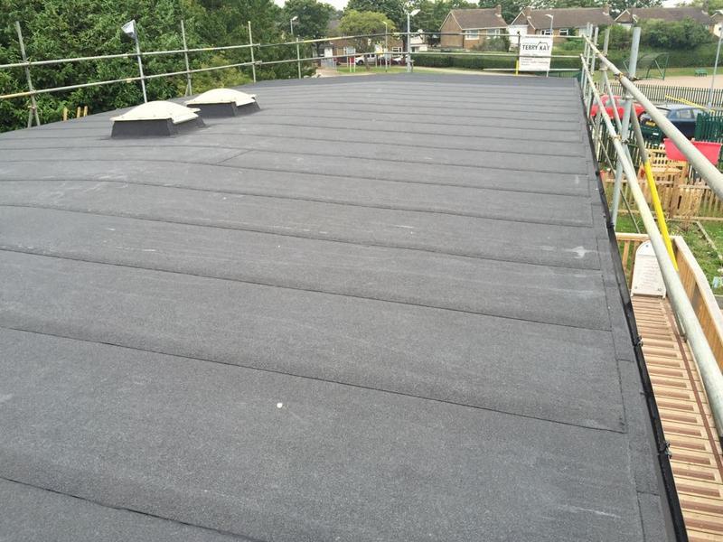 Image 48 - Torch On Felt Re-Roof & Replacement Ply Boards - Longmeadow School, Stevenage