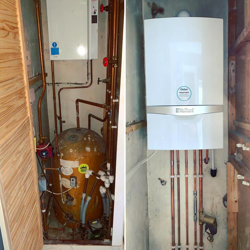 Image 6 - Conversion. Welling job. Conventional boiler and cylinder. Fitted new Vaillant eco Tec Plus 832 Combi boiler *10 years warranty*
