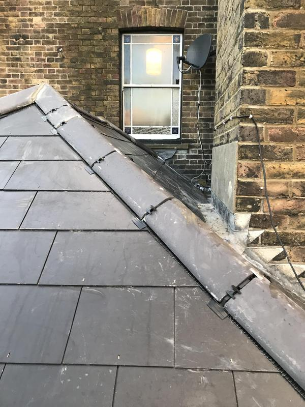 Image 26 - New slate roof with dry ridge system also lead work around chimney breast