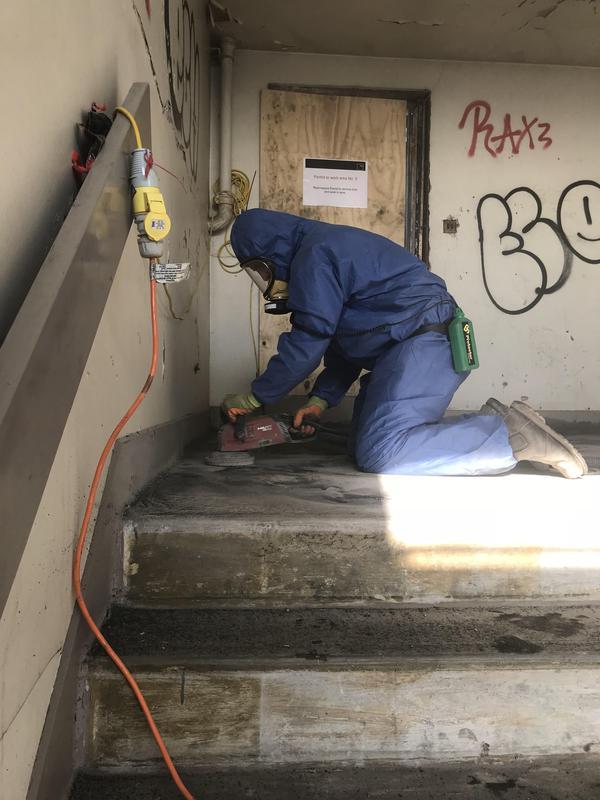 Image 19 - Floor tiles & Bitumen Removal