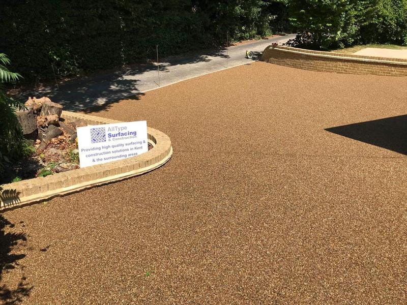"""Image 1 - Resin driveway along with 9"""" wall"""