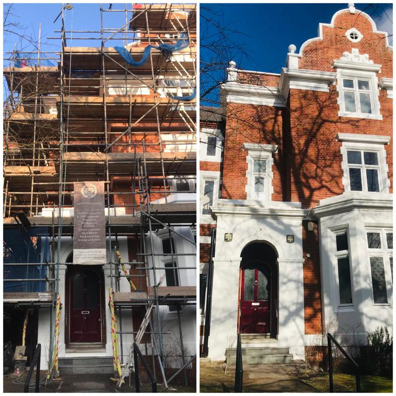Image 1 - Brick clean, masonry restoration including brick repairs/replacements,patch repointing and external painting and decorating. Penge