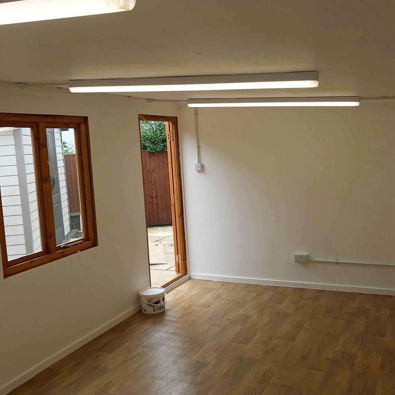 Image 41 - Garden workshop lighting and power