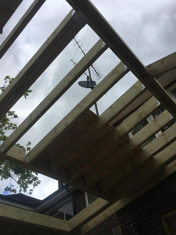 Image 58 - Rafters in place and all jiffy hangers installed