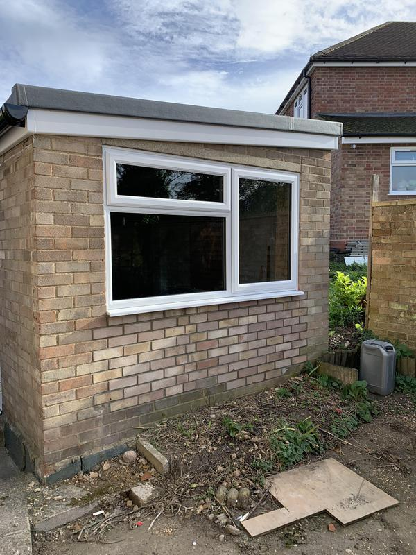 Image 21 - Garage renovation to include oil tank removal with infill brickwork & new window, and renovate roof with new GRP roof covering.