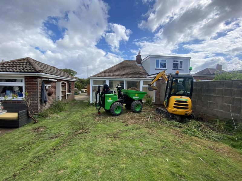Image 1 - Start of loft conversion, carport and rear extension