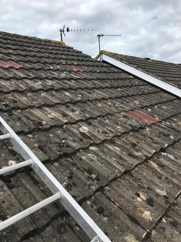 Image 34 - Broken roof tiles replaced