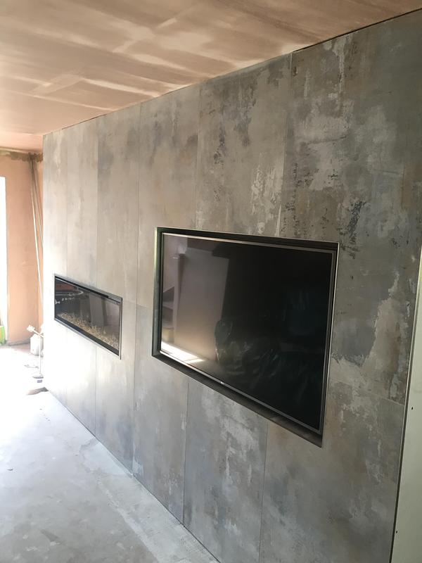 Image 15 - Bespoke wall for tv an fire