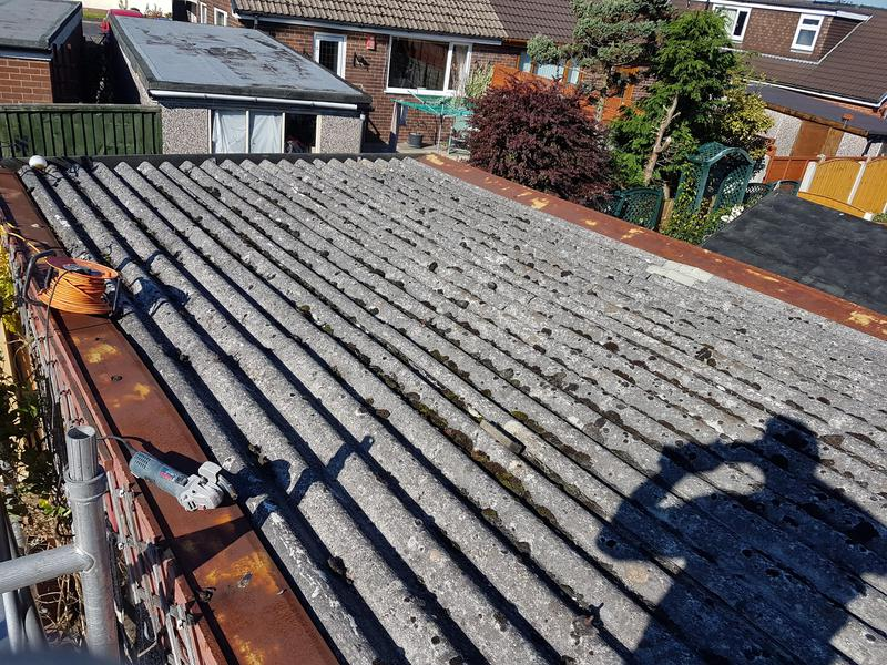 Image 31 - Asbestos roof before new boards