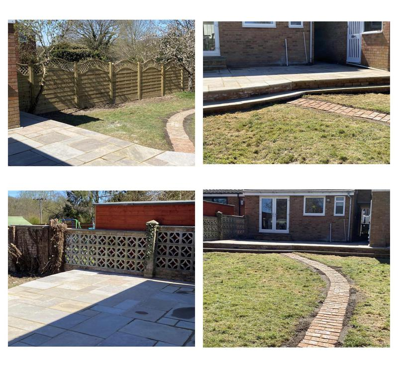 Image 5 - 43- Replaced raised patio with added brick path