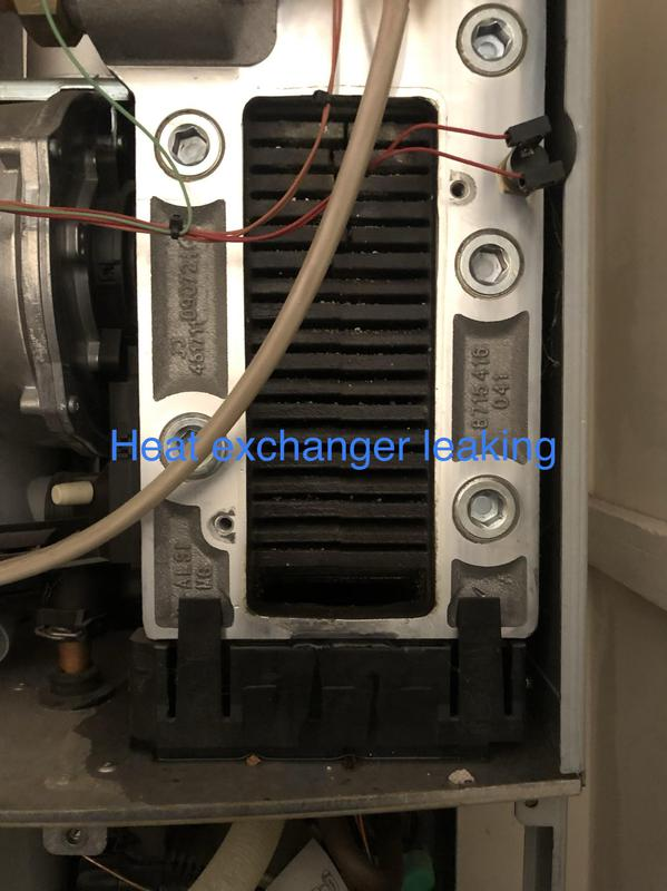 Image 9 - Leaking Worcester BOsch main heat exchanger