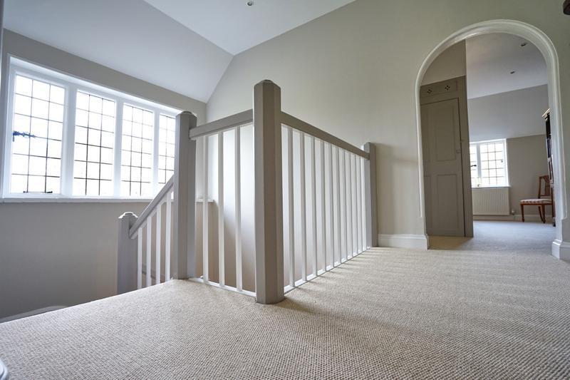 Image 132 - Contrasting handrails & posts, Farrow & Ball Hallway.