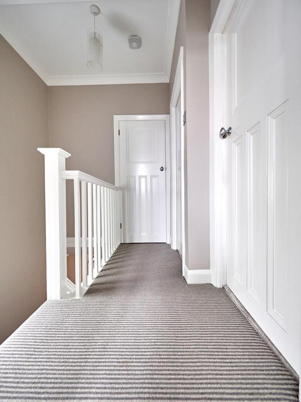 Image 80 - Stunning hallway in Bickley. F&B 'Elephants Breath' on all walls and we suggested colour matching the under stairs storage & door in the same colour.