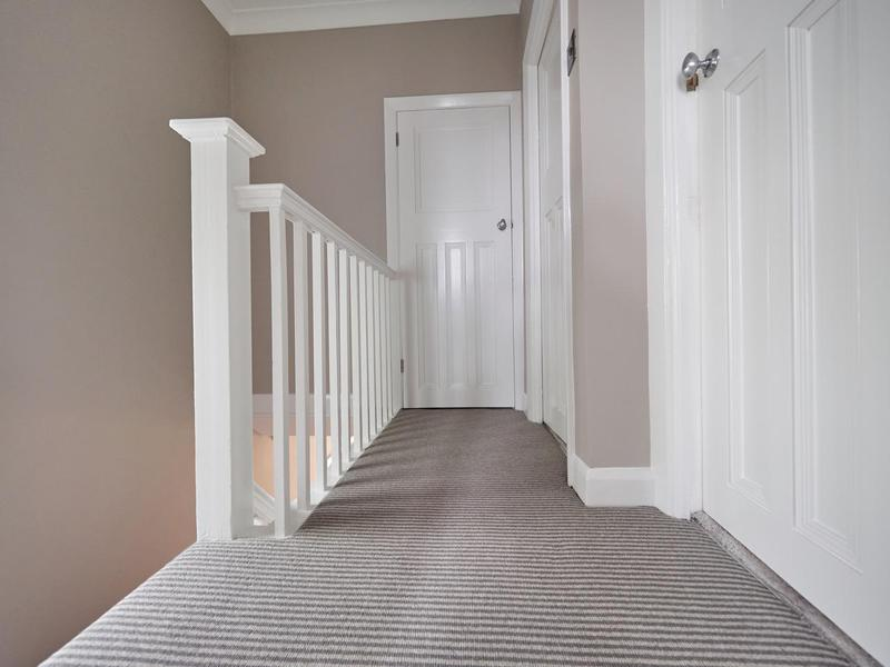 Image 81 - Stunning hallway in Bickley. F&B 'Elephants Breath' on all walls and we suggested colour matching the under stairs storage & door in the same colour.
