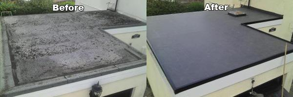 Image 12 - flat roofs,before & after ,result is a maintenance free epdm rubber roof,with a 20 year guarantee.