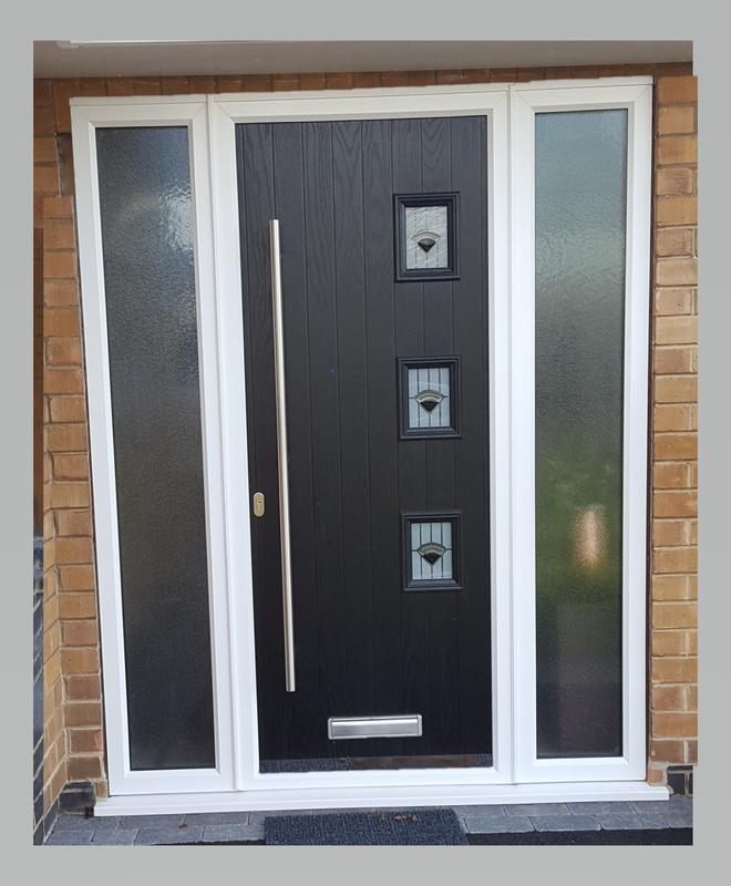 Image 20 - Epperstone design Composite door with Bar handle in Black
