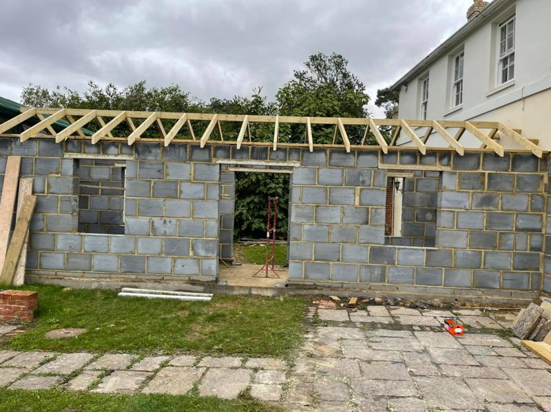 Image 18 - extension cut and pitch roof