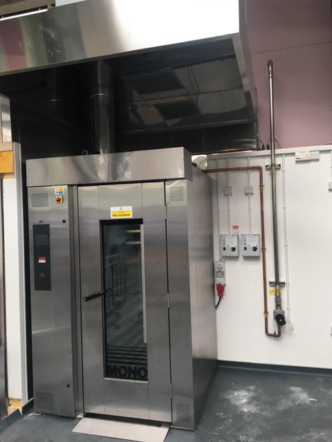 Image 32 - Commercial oven installed