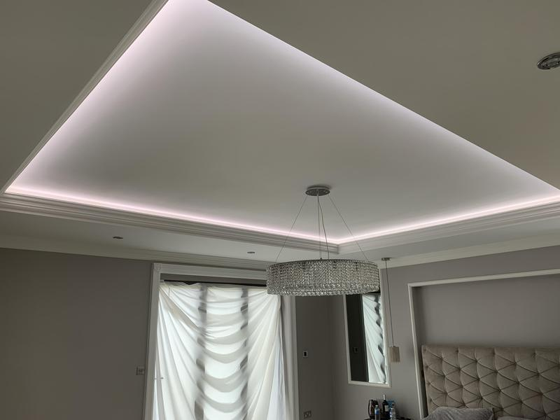 Image 25 - The finished ceiling with lighting feature working.