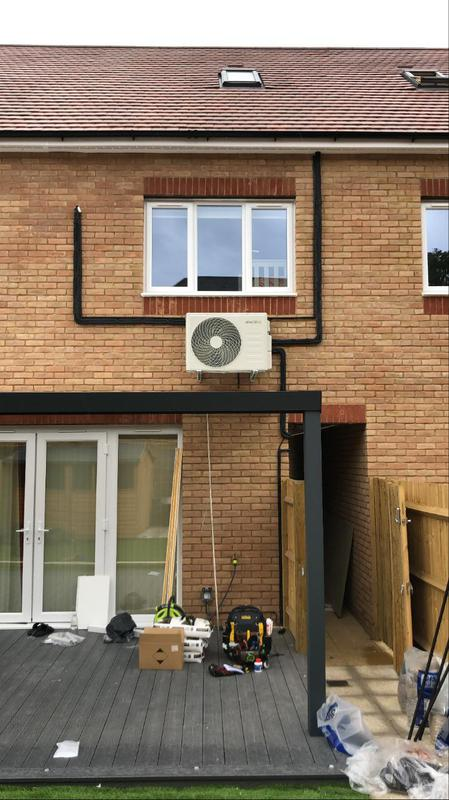 Image 12 - Installation of a electriq multi type system with three indoor units on one condenser ideal for if you need cooling in multiple rooms but lack the space out side for multiple condensers