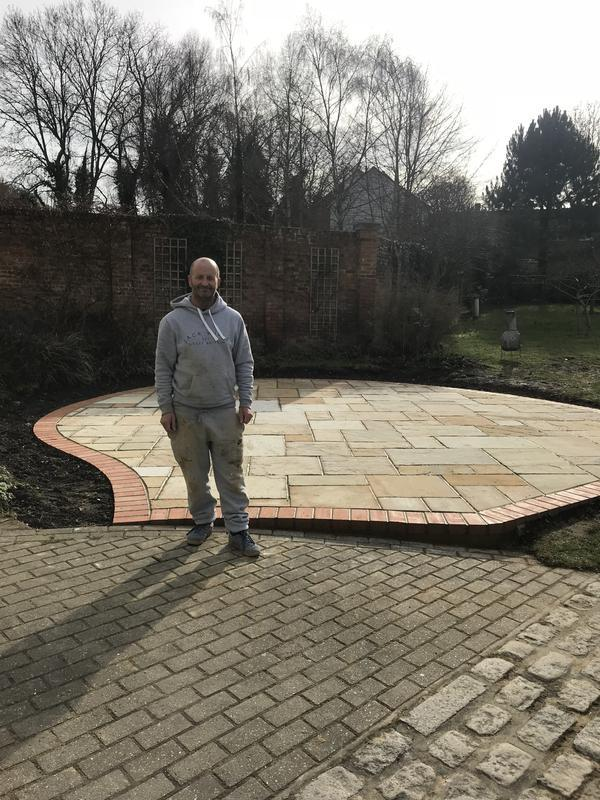 Image 17 - A brick boarder and indian sand stone to cover area and point up to seal in chartham kent