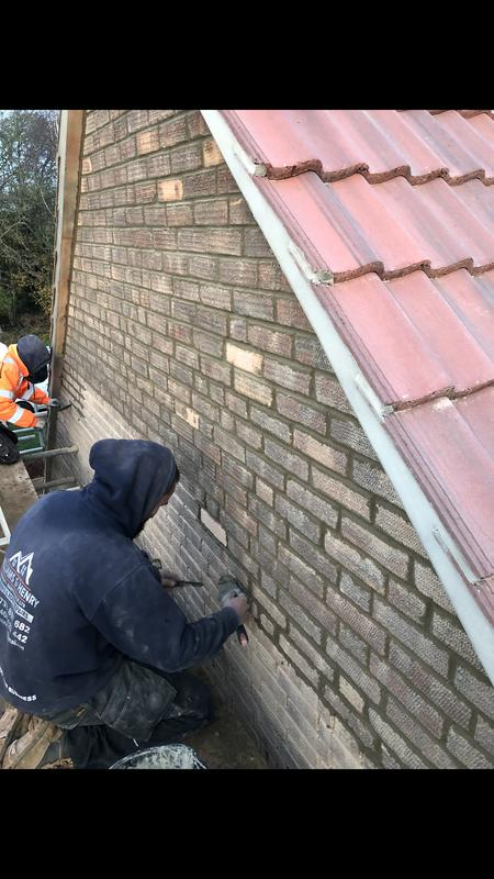 Image 38 - Repointing the exterior of this house brickwork.