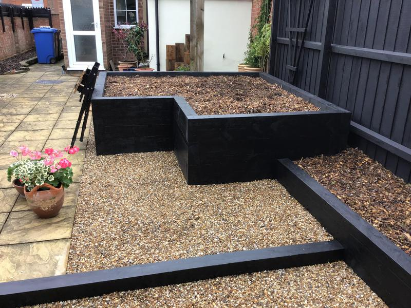 Image 16 - New raised flower bed area