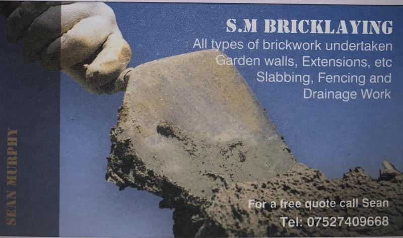 SM Bricklaying logo