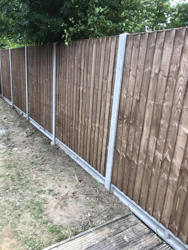 Image 6 - Concrete posts with brown heavy duty closeboard panels and concrete gravel boards