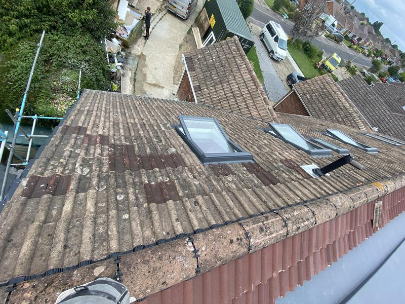 Image 87 - Reclaimed tiles to blend In new roof