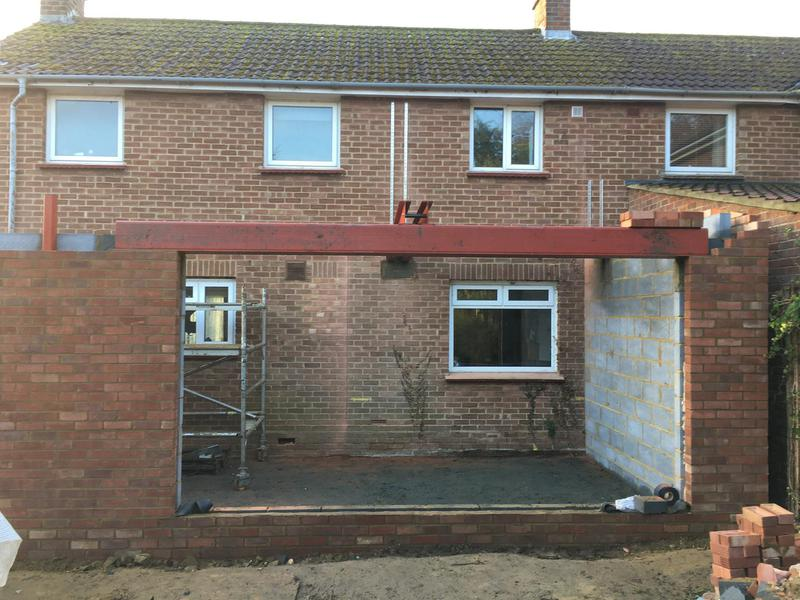 Image 24 - Steels installed ready for the second storey walls for clients in Little Hallingbury