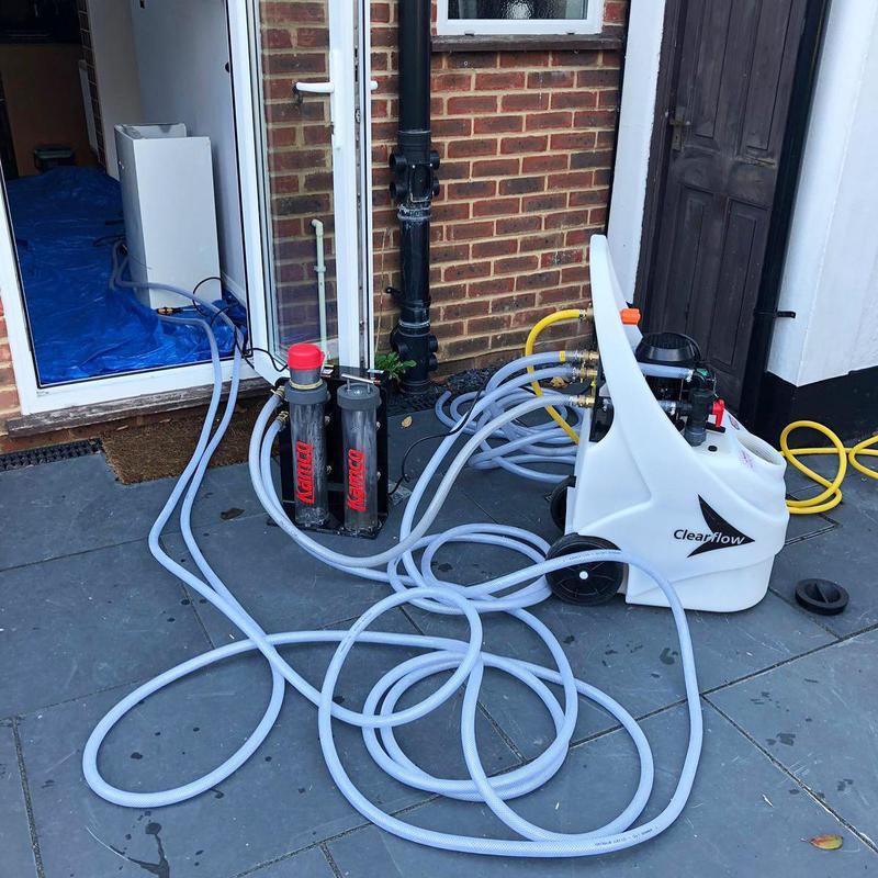 Image 8 - Bexley job. Power flush day