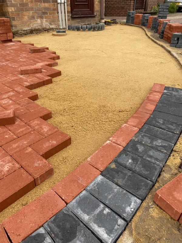 Image 86 - Block pave drive in progress