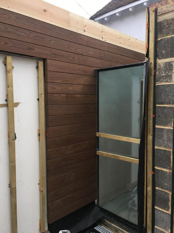 Image 32 - After We went over the top of our fitted battens with breathable felt, we fitted the fascia boards and then started fitting the cladding.