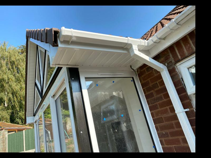 Image 36 - Customer preferred the Tongue and Groove soffits at the back of the property.