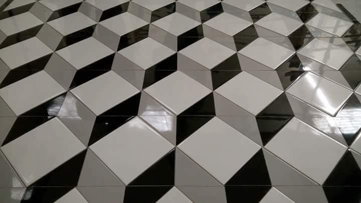 Image 31 - Hand cut 3D effect bespoke tiling